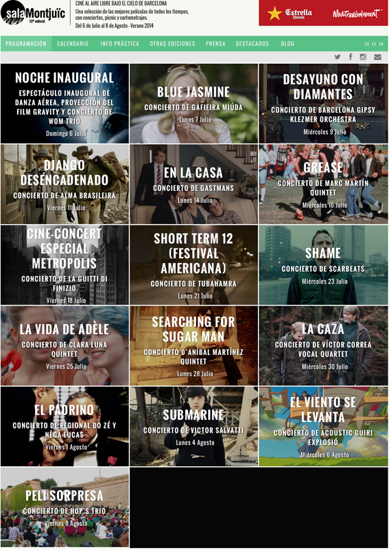 Escuela Mediterraneo Barcelona Spanish courses Cine Montujuic